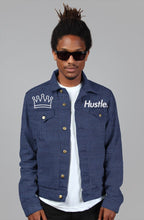 "Load image into Gallery viewer, ""HUSTLE."" OG DENIM JACKET - Hustle Culture 