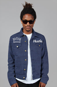 """HUSTLE."" OG DENIM JACKET - Hustle Culture 