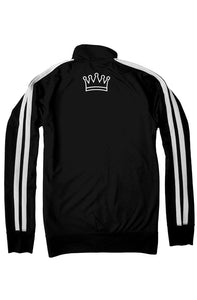 """ALPHA"" HUSTLE. PREMIUM TRACK JACKET (BLACK) - Hustle Culture 