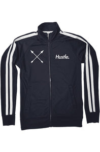 """ALPHA"" HUSTLE. PREMIUM TRACK JACKET (NAVY) - Hustle Culture 