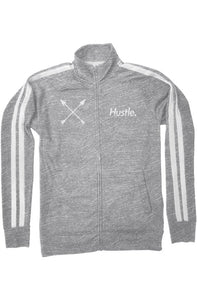 """ALPHA"" HUSTLE. PREMIUM TRACK JACKET (GUNMETAL GREY) - Hustle Culture 
