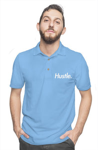 """CEO"" HUSTLE. POLO SHIRT (BABY BLUE) - Hustle Culture 