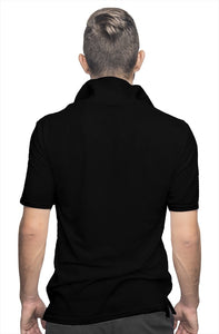 """CEO"" HUSTLE. POLO SHIRT (BLACK/WHITE) - Hustle Culture 