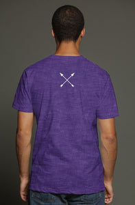 """ALPHA"" HUSTLE. PREMIUM TRI-BLEND T-SHIRT (PURPLE) - Hustle Culture 