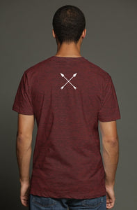 """ALPHA"" HUSTLE. PREMIUM TRI-BLEND T-SHIRT (MERLOT) - Hustle Culture 