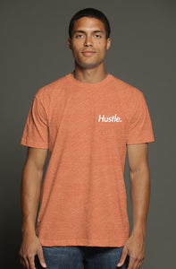 """ALPHA"" HUSTLE. PREMIUM TRI-BLEND T-SHIRT (TROPICAL ORANGE) - Hustle Culture 