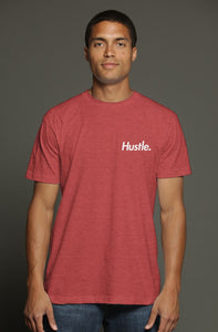 """ALPHA"" HUSTLE. PREMIUM TRI-BLEND T-SHIRT (RED) - Hustle Culture 