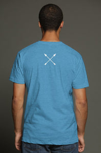 """ALPHA"" HUSTLE. PREMIUM TRI-BLEND T-SHIRT (AQUA) - Hustle Culture 