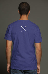 """ALPHA"" HUSTLE. PREMIUM TRI-BLEND T-SHIRT (NAVY) - Hustle Culture 