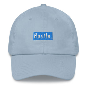 Hustle. Classic Dad Hat [ BABY BLUE ]