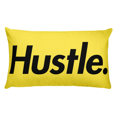 HUSTLE. PREMIUM PILLOW [YELLOW] - Hustle Culture | Official Store