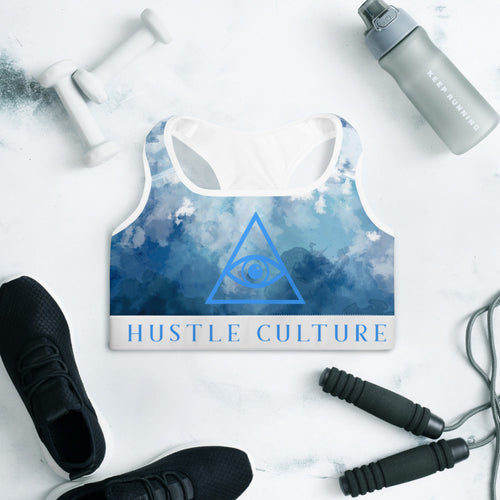 [ VISIONARY HUSTLE ] UP IN THE CLOUDS SPORTS BRA - Hustle Culture | Official Store