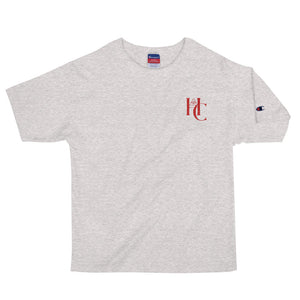 [ HC VISIONS ] CHAMPIONxHUSTLE EMBROIDERED T-SHIRT - Hustle Culture | Official Store