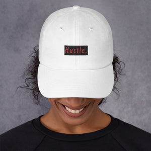 Hustle. Classic Dad Hat [ RED/BLACK ]