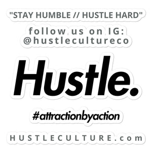 STAY HUMBLE // HUSTLE. HARD STICKER - Hustle Culture | Official Store