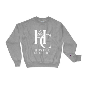 [ HC VISIONS ] STACKED CHAMPIONxHUSTLE CREWNECK - Hustle Culture | Official Store