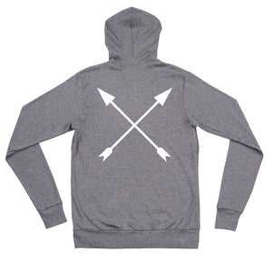 """VICTORY"" PREMIUM LIGHTWEIGHT ZIP HOODIE - Hustle Culture 
