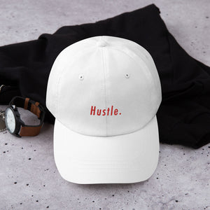 Hustle. Classic Dad Hat [ RED ]