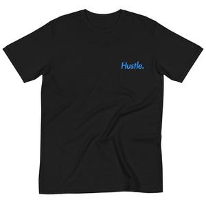 """GO NATURAL"" 100% ORGANIC COTTON T-SHIRT (BABY BLUE LOGO) - Hustle Culture 