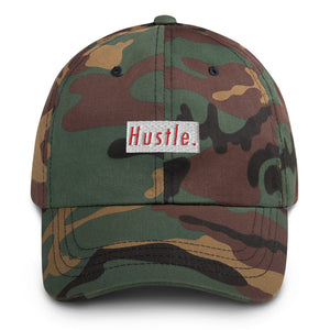 Hustle. Classic Dad Hat [ RED/WHITE ]