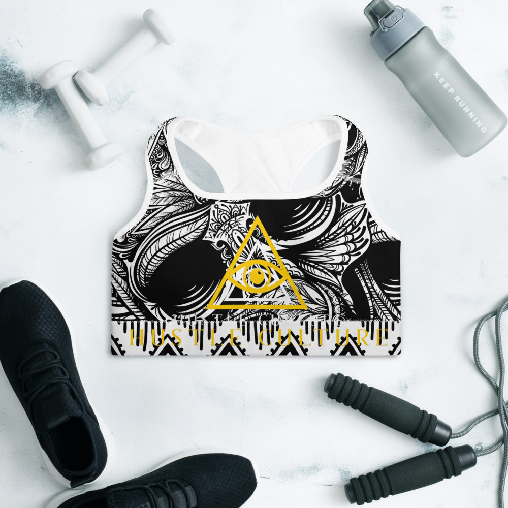 [ VISIONARY HUSTLE ] TRIBE SPORTS BRA - Hustle Culture | Official Store