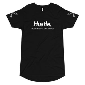 """THOUGHTS BECOME THINGS"" LONG BODY URBAN T-SHIRT - Hustle Culture 