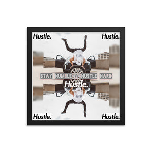 STAY HUMBLE // HUSTLE HARD 1.0 IN HARDWOOD FRAME - Hustle Culture | Official Store