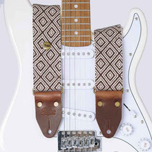 Load image into Gallery viewer, Guitar Strap - Ethno Brown Deluxe