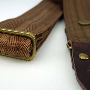 Brown Nylon Guitar Straps Steyner Metallhardware
