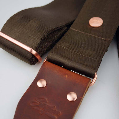 Seatbelt Gitarrengurt Cruiser Brown Rose