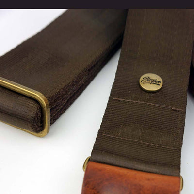 Seatbelt Gitarrengurt Cruiser Brown Gold