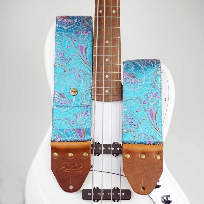 Paisley Bassgurt blau - Indian Lake Deluxe