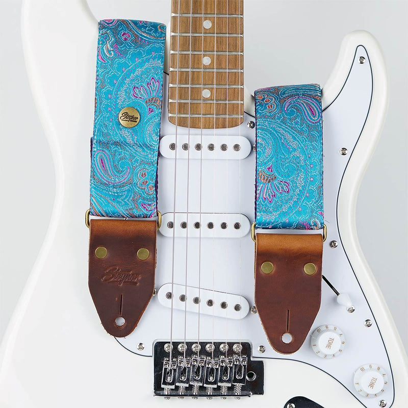 Paisley Gitarrengurt blau – Indian Lake