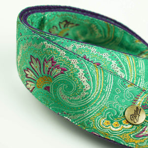 Paisley Gitarrengurt grün – Indian Garden