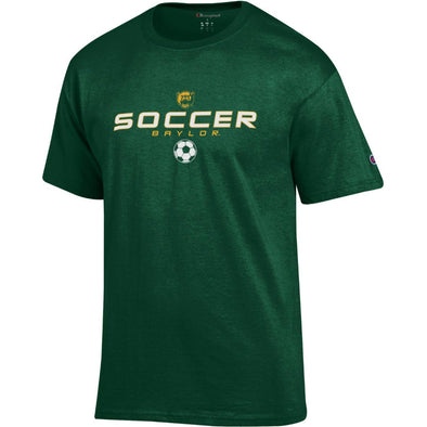 Baylor University Bears Soccer Short Sleeve T-Shirt - Dark Green