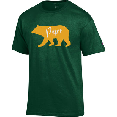 Baylor University Papa Bear Short Sleeve T-Shirt - Dark Green