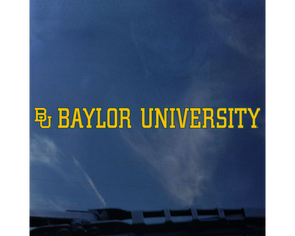 Baylor University Strip Decal
