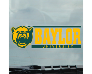 Baylor University Bears Cling Decal