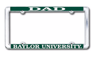 Baylor University Dad Strand Art License Plate Frame