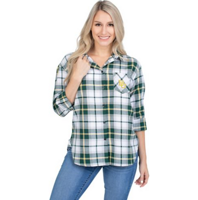 Baylor University Plaid Shirt