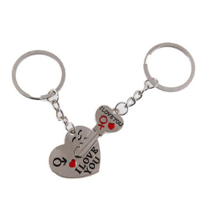porte-clef-coeur-séparable-i-love-you