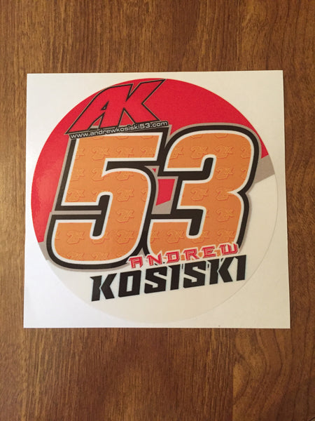 "Andrew Kosiski 2019 5"" Decal"