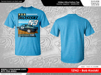 Bob Kosiski Retro 1969 Heather Sapphire T-Shirt *** PREORDER PURCHASE ***