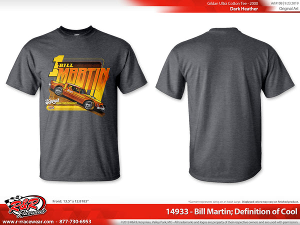 "Bill Martin Retro 1977 ""Definition of Cool"" Dark Heather Grey T-shirt ***PREORDER PURCHASE**"
