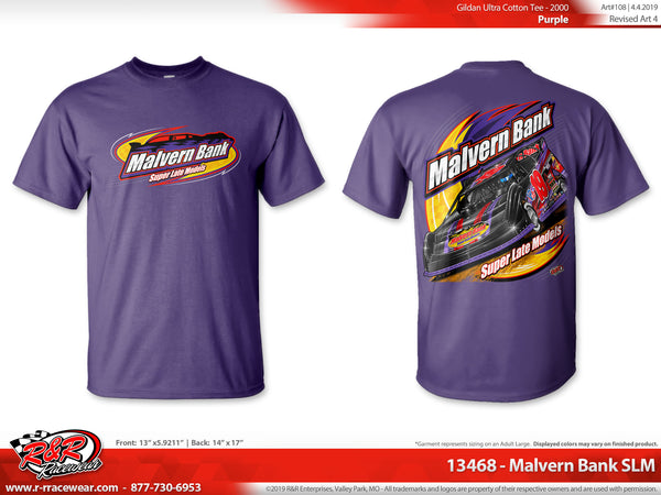 Malvern Bank Super Late Models 2019 T-shirt