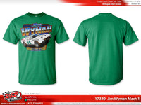 "Jim Wyman Retro 1971 ""Mach 1"" Antique Irish Green T-shirt"