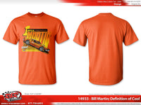 "Bill Martin Retro 1977 ""Definition of Cool"" Orange T-shirt"