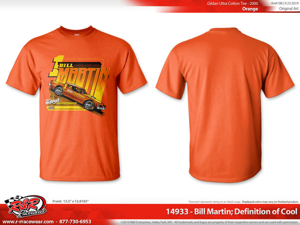 "Bill Martin Retro 1977 ""Definition of Cool"" Orange T-shirt ***PREORDER PURCHASE**"