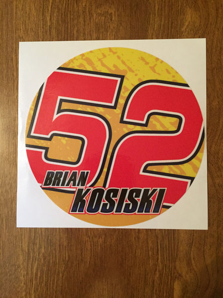 "Brian Kosiski 2019 5"" Decal"