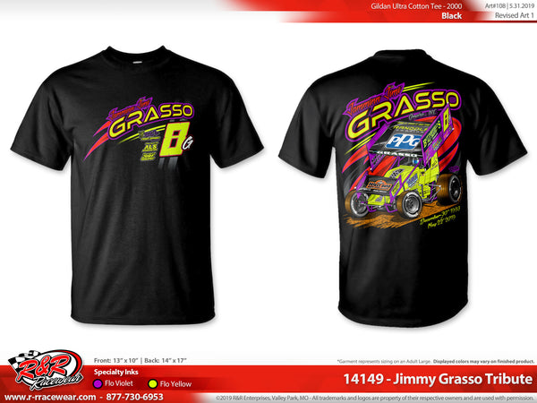 Jimmy Grasso Tribute 2019 Black T-shirt ***PREORDER PURCHASE***